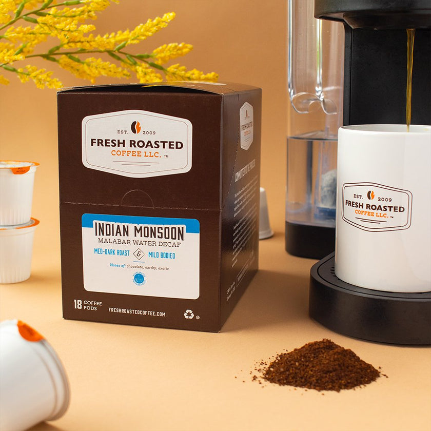 Indian Monsoon Malabar Water Decaf - Single Serve Coffee Pods