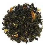 A pile of Organic Orange Blossom Special Oolong Tea.
