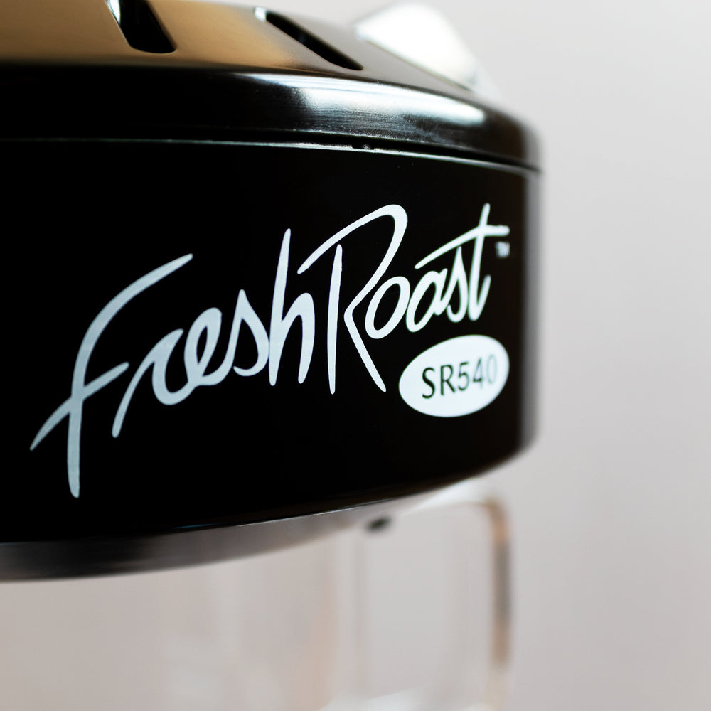 Close up of the Fresh Roast SR540 logo.