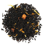 Pile of Organic Juicy Peach Black Tea.