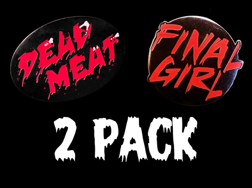 Dead Meat Logo / Final Girl Enamel Pin BUNDLE