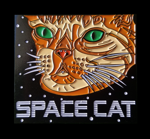Space Cat Enamel Pin