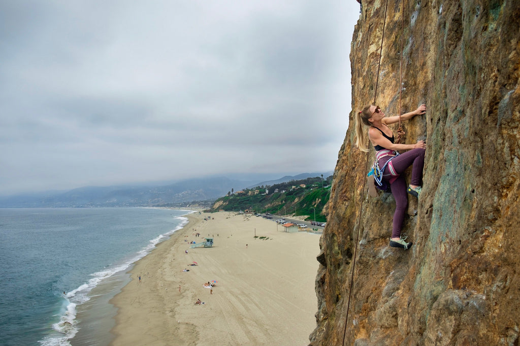 ROCK CLIMBING BEACH BABE - THE WILD ONES INTERVIEW BY WILDLAND ORGANICS