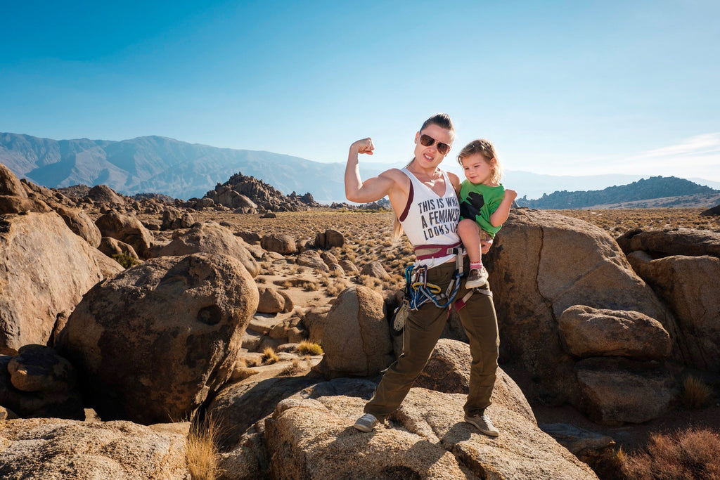 ROCK CLIMBING MOM WITH WILDLAND ORGANICS