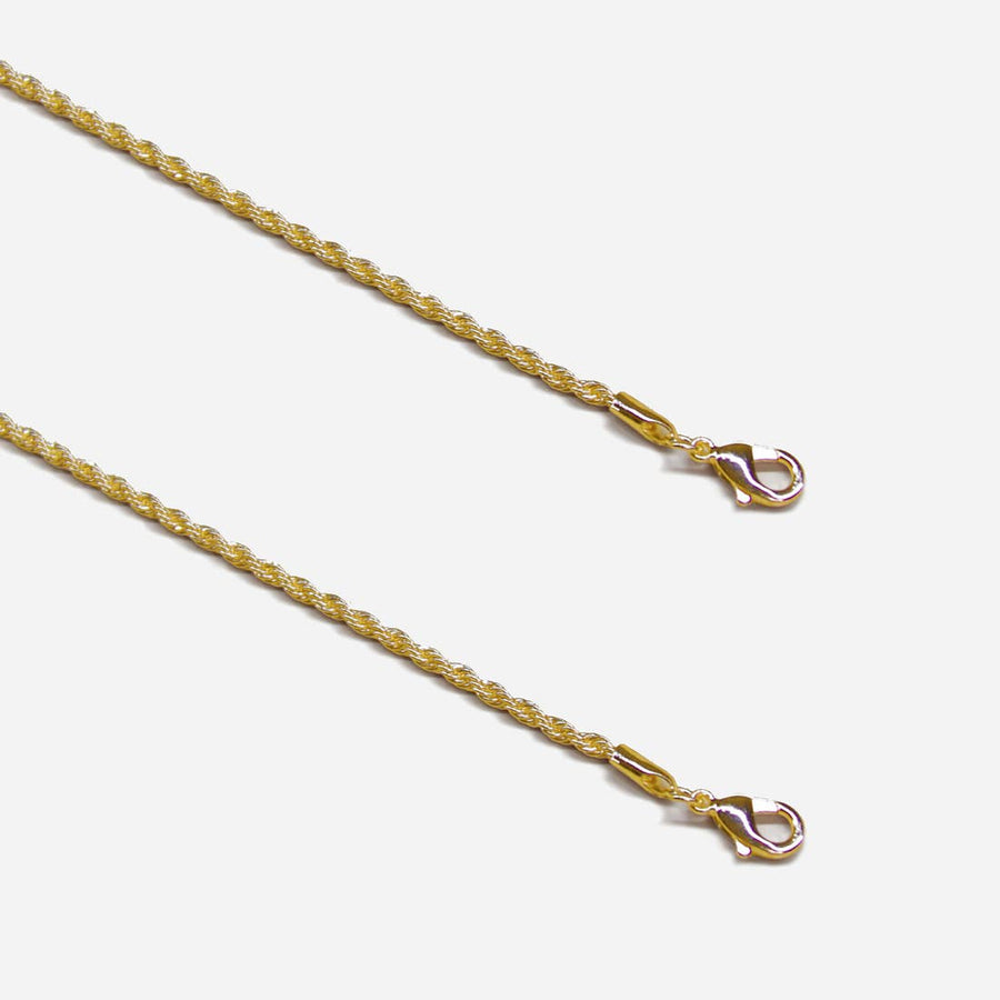 Metal Face Mask Chain - (Gold/Silver/Rose Gold)