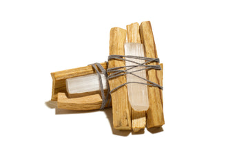 New Moon Charged Selenite Palo Santo Bundle