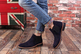 Men's Suede Chelsea Boots in Black, Blue or Gray