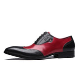 Beautifully Crafted Two Tone Wingtip Spectators. Black and Cran/burgundy.