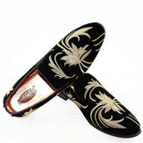 Men's Decorative Embroidery Loafers Printed Shoes