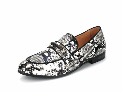 New Snake Skin Pattern Men's Loafers