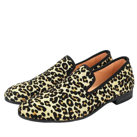 New Men's Leopard Cotton Fabric Shoes