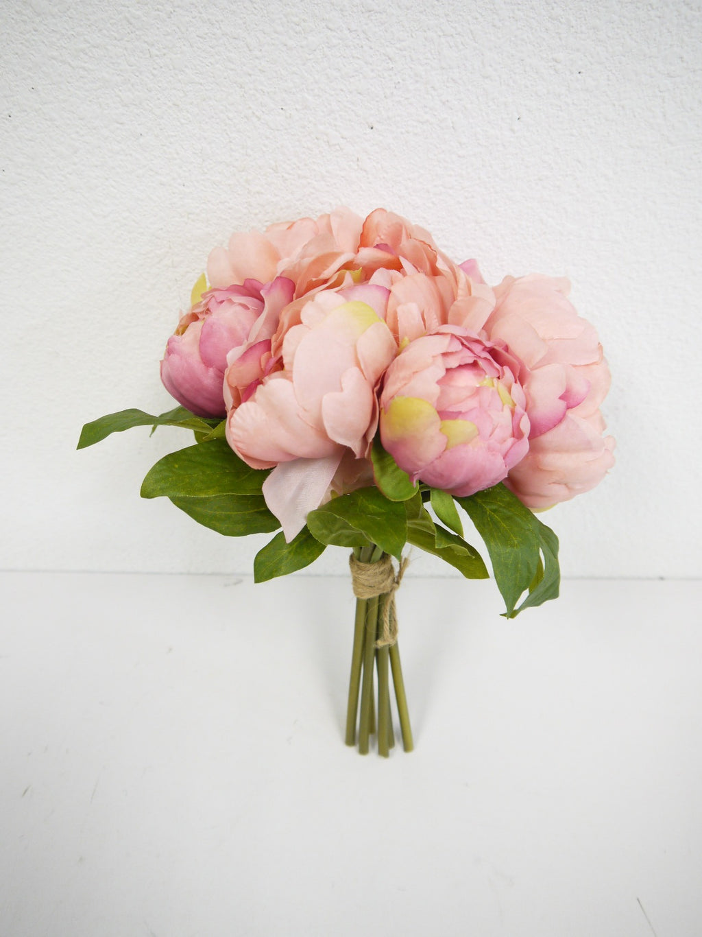 "SS142797 PINK 11"" PEONY BOUQUET"