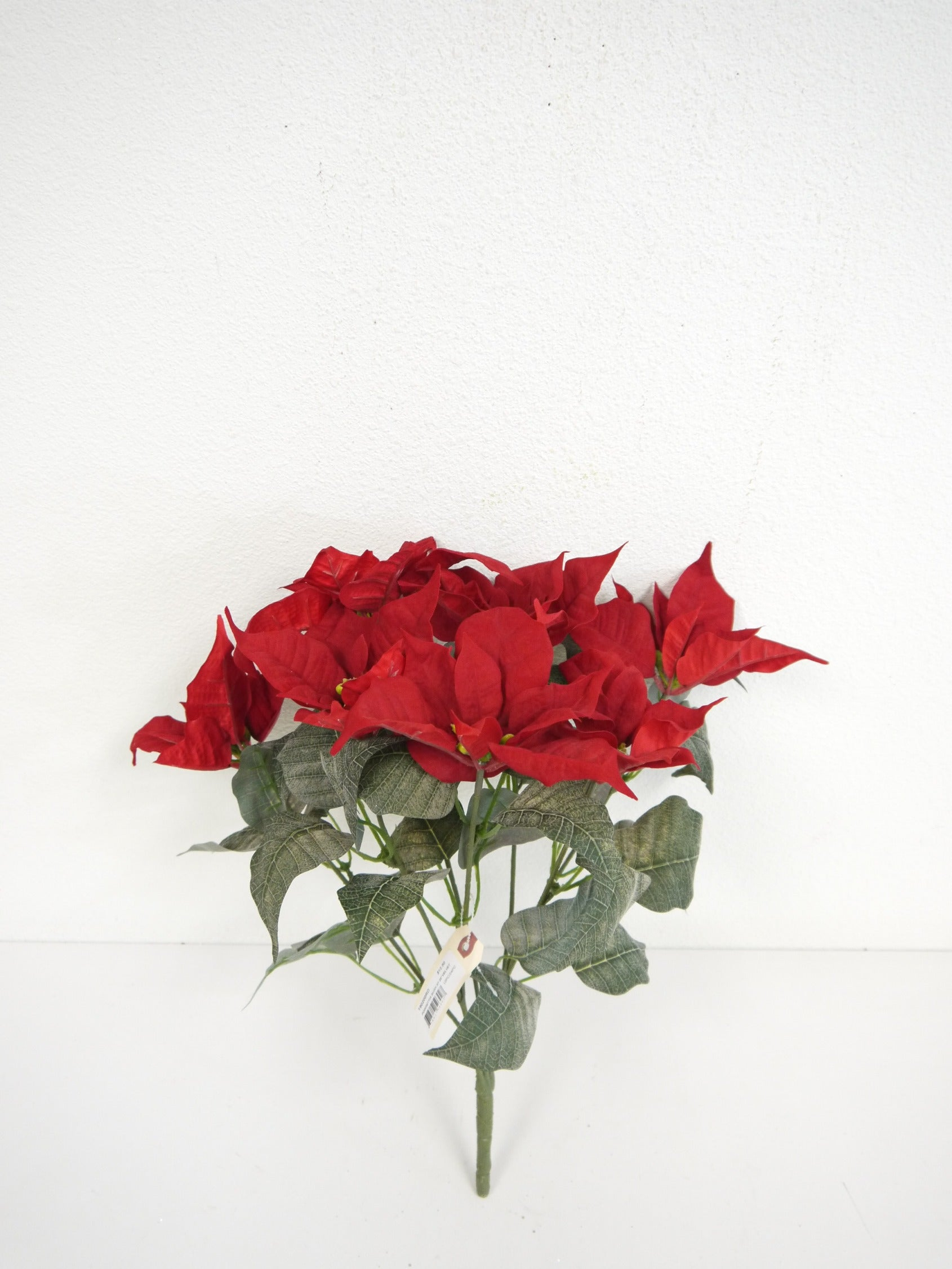 "SS190200 RED 25"" VELVET POINSETTIA BUSH"