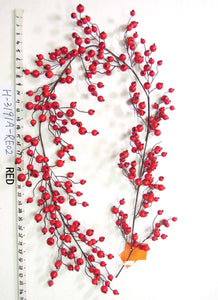 D227778 6' BERRY GARLAND RED