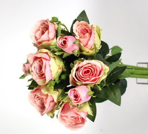 "D257540 GRN/PK 18"" ROSE BOUQUET"