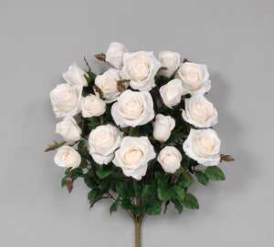 "AS20757 WH - 21.5"" Grandiflora Rose x 18 - White"