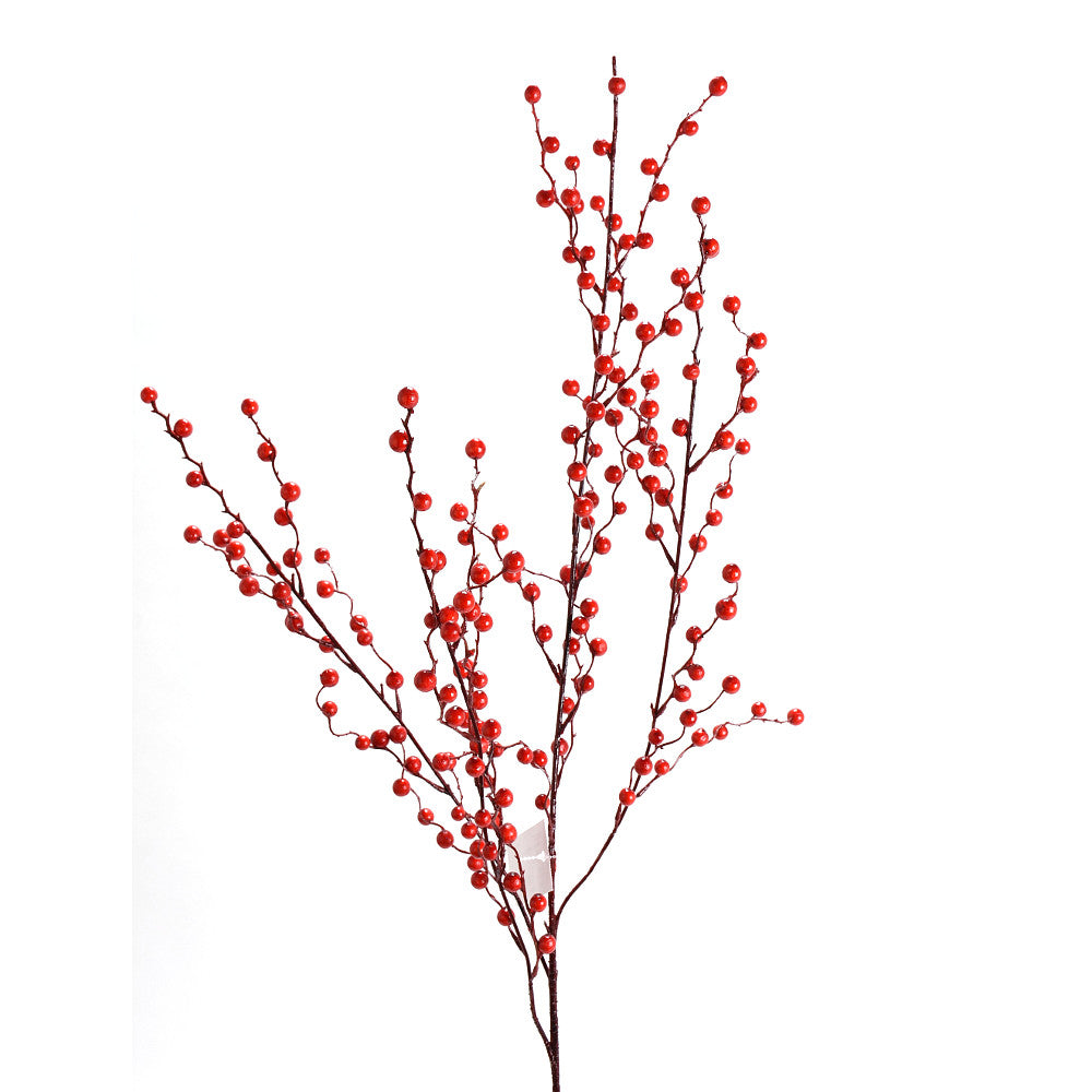 "D273357 37"" WEEPING BERRY SPRAY RED"