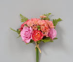 "AS31625 - BTY/LAV- 12"" Rose Hydrangea Bouquet"