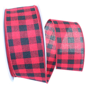 "C93168W 40RED/BLK HEARTY BUFFALO PLAID 2.5"" 20YDS"