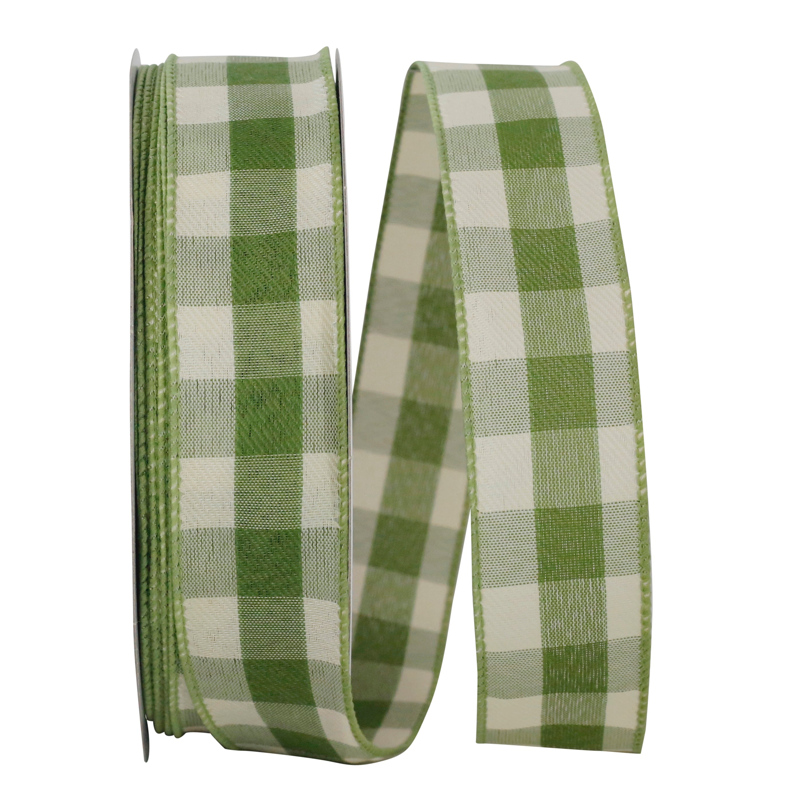 "C93228W MOSS CELINE PLAID 1.5"" 50YDS"