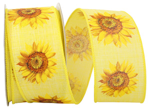 C93255W YELL SUNFLOWER LINEN