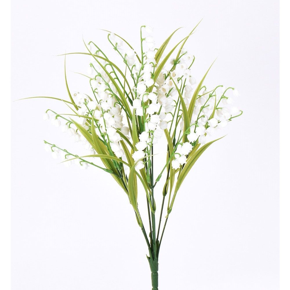 "D278073 WHITE 28"" LILY OF THE VALLEY"