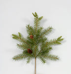 "AG13243 GRN - 19"" Douglas Fir Spray / Pinecones"