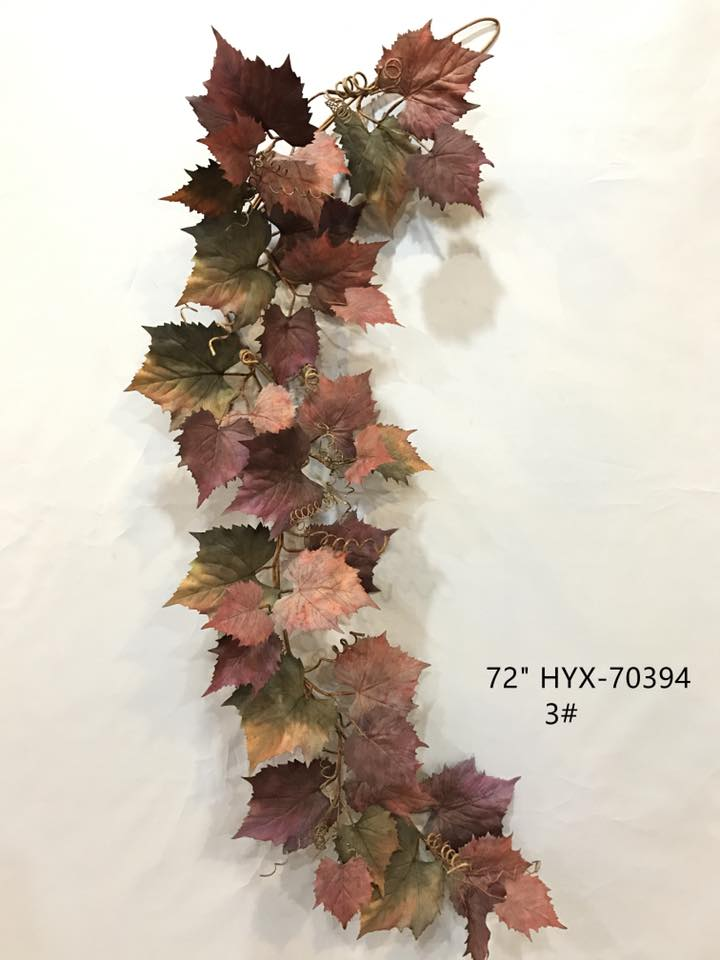 VHYX70394 FALL GRAPE LEAF GARLAND