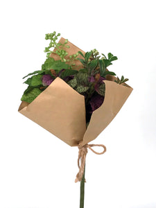 "K832 13"" MIXED GREENERY BOUQUET"