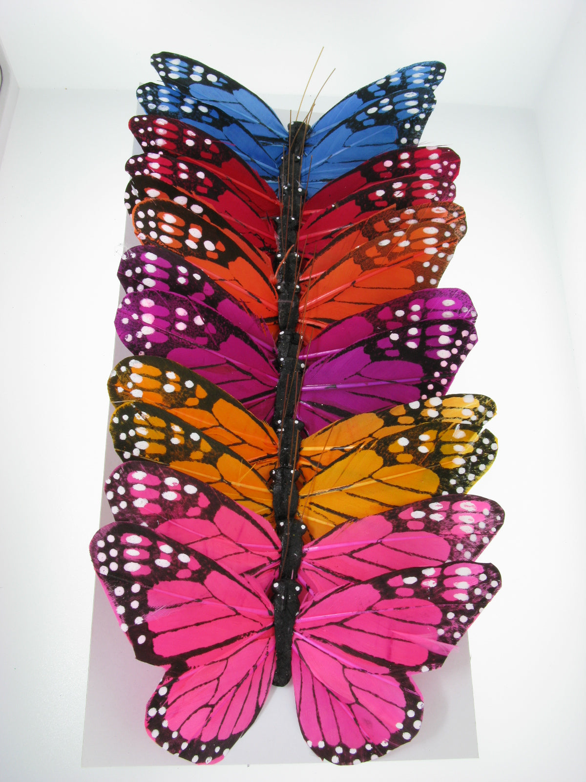 "PRBF5184 ASSORTED 5"" FEATHER BUTTERFLIES"
