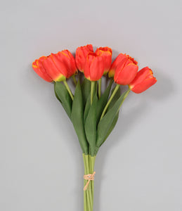 "AS32287 FLAME 15"" TULIP BUNCH"
