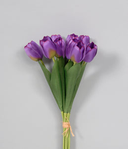 "AS32287 PURP 15"" TULIP BUNCH"