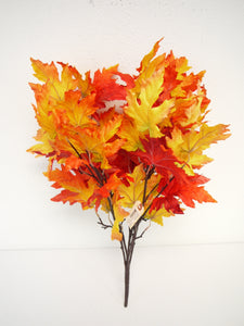 SS142028 OR/RED  SATIN MAPLE LEAF BUSH