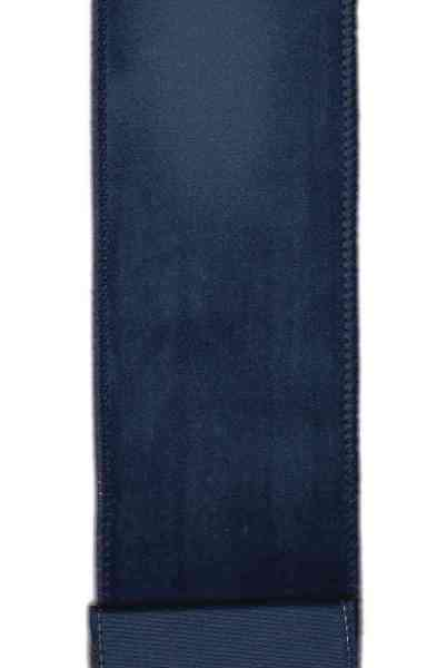 "DS09-2584 2.5"" VELVET DUPION BACK NAVY 10YDS"