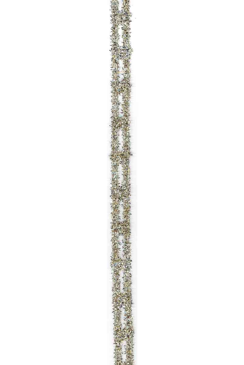 "Stretch Tinsel Link - Gold/Silver (5/8"")"