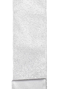 "Satin Glitter White (2.5"") - 10 yds"