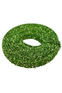 "Tinsel Garland - Bright Green (1"") - 3 yds"