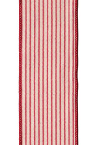 "DS881014 Linen - Stripes Red/Cream (2.5"") - 10 yds"