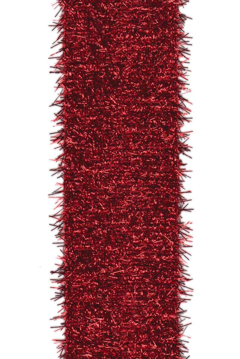 "Metallic Tinsel Red (2.5"") - 10 yds"