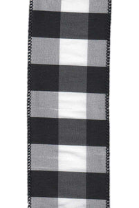 "DS88-1386 2.5"" DUPION CHECK BLACK/WHITE 10YDS"