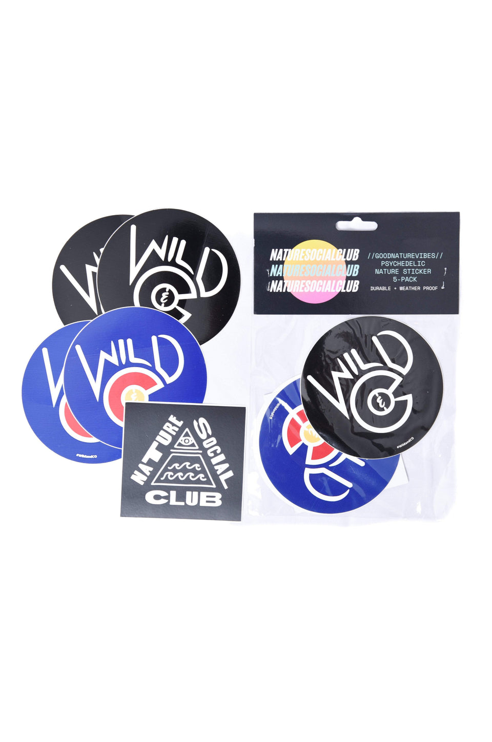 Wild and CO stickers Colorado Sticker 3-Pack