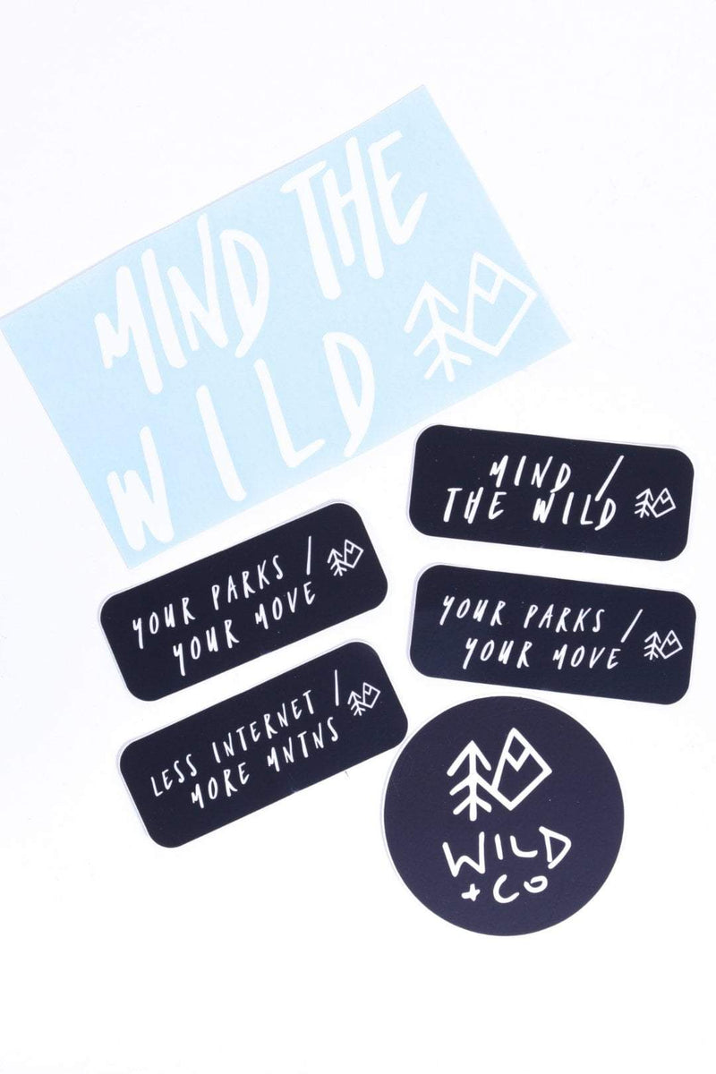 Wild and CO stickers Mind / the Wild Sticker Pack