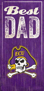 East Carolina Best Dad Sign