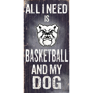 Butler Football and My Dog Sign