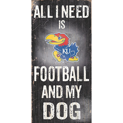 Kansas Football and My Dog Sign
