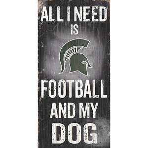 Michigan State University Football and My Dog Sign