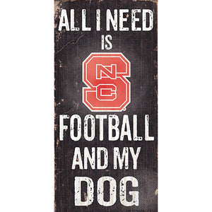 NC State Football and My Dog Sign