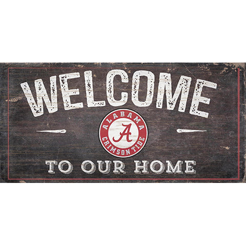 University of Alabama Welcome Distressed 6 x 12