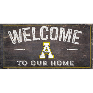 Appalachian State Welcome Distressed 6 x 12