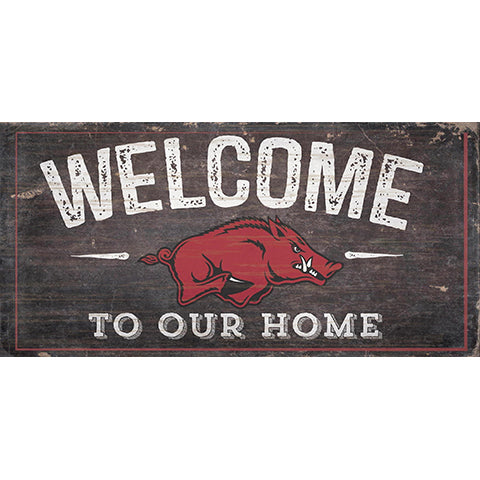 University of Arkansas Welcome Distressed 6 x 12